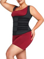 Black Plus Size Shapewear Latex 9 Steel Bones Tummy Control