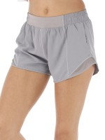 Captivating Gray Mini Length Athletic Shorts Patchwork Leisure