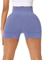 Amazing Royal Blue Seamless Solid Color Running Shorts High Quality