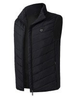 Sophiscated Black USB Heating Vest With Zip Pockets For Cold Days