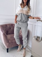 Feisty Gray Hooded Plus Size Athletic Suit Zipper Feminine Curve