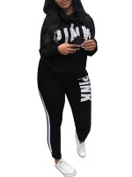 Stretchable Black Drawstring Training Suits Plus Size Ultra Cheap