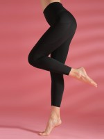 Well-Suited Black Yoga Pants With Pockets High Waist Fashion Style