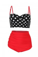Seaside Red High Waisted Two Piece Bathing Suit Simplicity