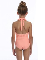 Enthusiastic Orange Family Beachwear Open Back Free Wire Fashion