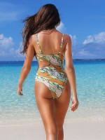 Artisan High Cut One Piece Swimsuit Backless Cool Fashion