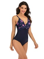 Enthralling One Piece Swimwear Flower Pattern Cheap Online