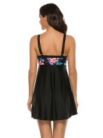 Delicate Tankini Open Back Floral Print Cheap Wholesale