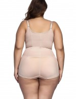 Nude Bodyshort Shapewear Adjustable Crotch Hooks Midsection Compression
