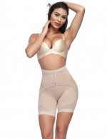 Apricot Mesh High Waisted Big Booty Shaper With Hooks Waist Control