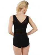 Supper Fashion Black Jacquard Triangle Bodysuit Butt Lifting Tight Fit