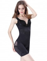 Compression Silhouette Black U Underbust Body Shaper With Lace Slim