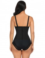 Basic Shaping Latex Three Steel Bones Plus Size Body Shaper Thong