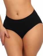 Fashionable Black Seamless Butt Lifter Panty Warm Uterus Extra Sexy
