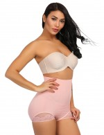 Figure Shaper Light Pink Anti-Curling Butt Lifter Panty High Waist