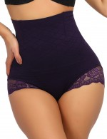 Practical Purple Seamless Butt Lifter Panty High Waist Unique Fashion