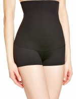Medium Control Black Anti-Slip High Waist Butt Lifer Boyshort Large