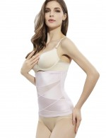 Light Pink Crossover Waist Cincher 2 Steel Bones Best Selling