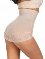 Thermo Heating Nude Lace Patchwork High Rise Butt Lifter Plus Size Bodycon
