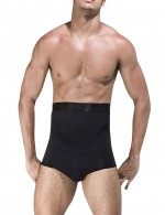 Slimmer Black Mens High Waist Booty Shaper Not Roll Extra Sexy