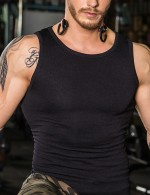 Tummy Trimmer Black Mens Seamless Sleeveless Shaper Natural Shaping