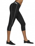 Sensual Curves Black Stretchy Waistband Pocket Neoprene Leggings Big Size Slim