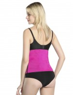 Chic Rose Red Neoprene Zipper Waist Slimmer Queen Size Sleek Curves