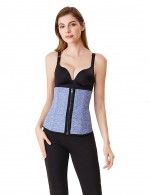 Tummy Control Light Blue Double Closure Big Neoprene Waist Cincher Fitness