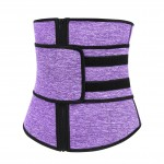 Purple 7 Steel Bones Fitness Neoprene Waist Trainer With Belt