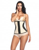 Natural Plus Shaping Apricot 9 Steel Bones Latex Waist Trainer Eyelet Panel