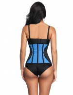 Spotlight Queen Size Blue 9 Bones Latex Waist Trimmer With Hooks Stretch