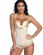 Flat Out Nude 6 Steel Zip Plus Layers Waist Trainer Versatile