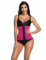 Exquisite Rose Red Big 9 Steel Bones Waist Shaper Neoprene Smoothlines