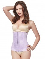 Light Purple Hook Eyes Closure Waist Trainer Large Midsection Compression