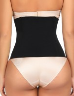 Black Queen Size Waist Cincher Plastic Bones Blood Circulation Boosting