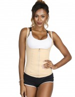 Superfit Everyday Skin Zip Big Size Vest Shaper Steel Bones Figure Sculpting