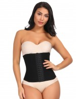 Sleek Smoothers Black Large Size Waist Slimmer Hook Closure Natural Shaping