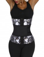 7 Steel Boned Snake Print Big Size Waist Trainer Slimming Stomach