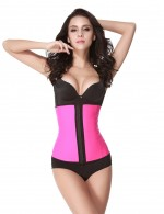 Compression Pink 4 Steel Boned Latex Waist Trainer Push Up