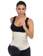Perfect Nude 7 Steel Bones Sticker Zip Latex Waist Slimmer Big Size Sleek Smoothers