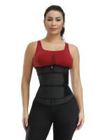 Pretty Black 7 Steel Bones Big Size Latex Waist Trainer Firm Control