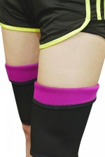 Rose Red Close Fitting Neoprene Thigh Sheath Burst Sweat Shaper