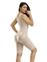 Hot Sale Skin Zipper Hook Bodysuit Large Size Wide Straps Body Shapewear