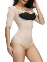 Skin Color Full Body Shaper Solid Color Plus Size Cellulite Reducing