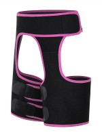 Stretch Rose Red Sticker Open Butt Neoprene Thigh Shaper Light Control