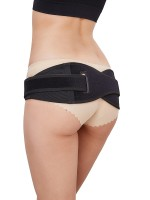Fitted Curve Black Cross Postpartum Pelvic Belt Square Hole Tight Fit