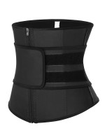 Black Zipper Sticker Latex Waist Trainer With Belt Waist Control