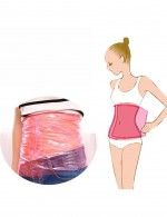 Glam Red Sauna Slimmer Calf Thigh Waist PVC Belt