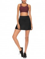 Sensation Black Hidden Pocket Skirt Solid Color Pleated Close-Fitting