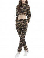 Charming Camouflage Green Hoodie And Long Pants Camo Tracksuit